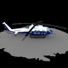16121 警用直升机-飞机-军事飞机-CG模型-3D城
