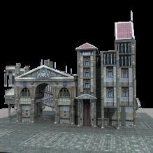 欧式建筑-室外建筑-古建筑-CG模型-3D城