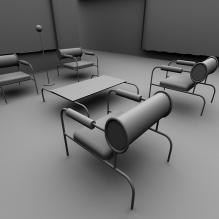 客厅室-室内建筑-客厅-CG模型-3D城