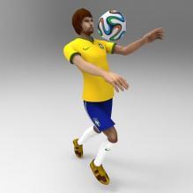 2014世界杯巴西队服-人物_角色-CG模型-3D城