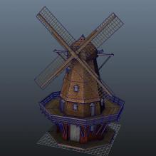 荷兰大风车-室外建筑-工业_厂房-CG模型-3D城