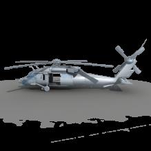 16122 黑鹰-飞机-军事飞机-CG模型-3D城