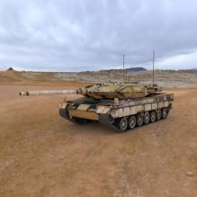 豹2A6坦克-汽车-军事汽车-CG模型-3D城