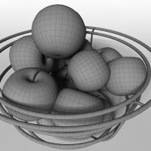 厨房摆设 苹果-食品-水果-CG模型-3D城