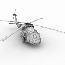 西科斯基UH-60中型通用直升机-飞机-军事飞机-CG模型-3D城