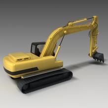 挖掘机-工业设备-机器设备-CG模型-3D城