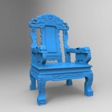 实木雕刻家具组合可打印