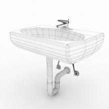 台盆-室内建筑-卫浴-CG模型-3D城