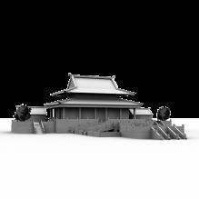 长寿殿-室外建筑-古建筑-CG模型-3D城