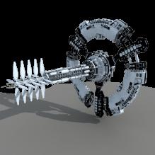 天顶站-科技医疗-航天卫星-CG模型-3D城