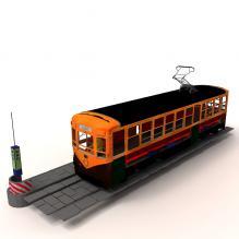 地铁-汽车-火车-CG模型-3D城