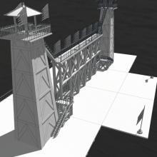 古代瞭望台-室外建筑-古建筑-CG模型-3D城