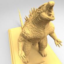 哥斯拉3D打印模型-艺术-3D打印模型-3D城