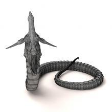 潜龙-动物-科幻-CG模型-3D城