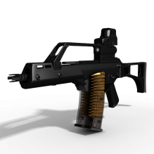 G36C卡宾枪-军事_武器-枪-CG模型-3D城
