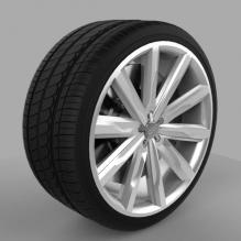 奥迪A7轮胎-汽车-汽车部件-CG模型-3D城