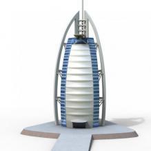 帆船酒店-室外建筑-商业_办公-CG模型-3D城