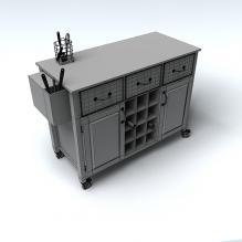 储物柜-家居-柜子-CG模型-3D城